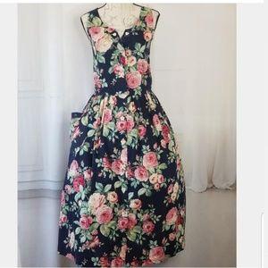 Vintage Cotton Floral Print dress